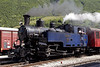 DFB No 9 Gletschorn, 3 July 2006 3: Realp.  The 2-6-0T stands after returning from Gletsch.  It was built for the FO in 1913, and in 1947 was exported to Vietnam!  It was repatriated in 1993.