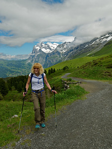 Still smiling after the ascent from Grindelwald