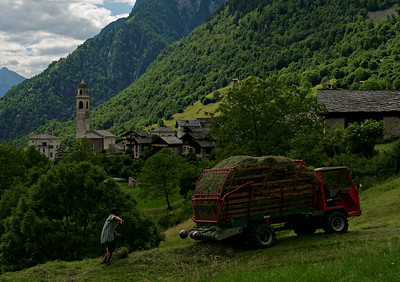 Workin' 9 to 5 outside of Soglio