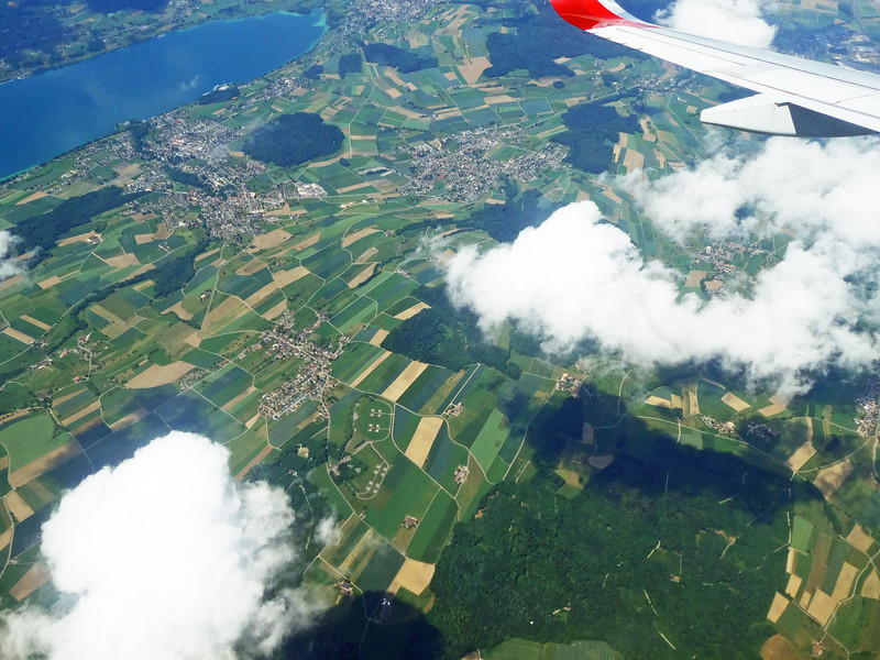 Flying from Lisbon to Zurich and then train to Constance, Germany