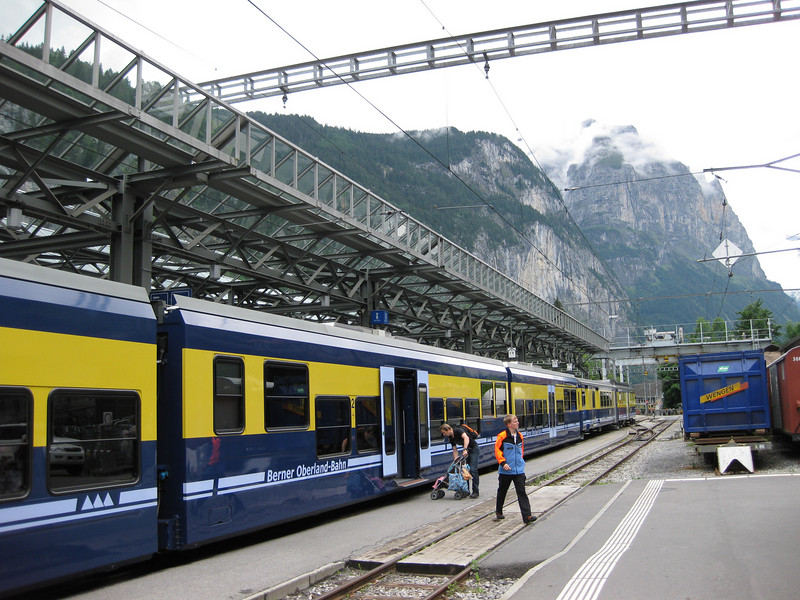 Heading to the mountains!<br /> <br /> Train from Interlaken to Lauterbrunnen