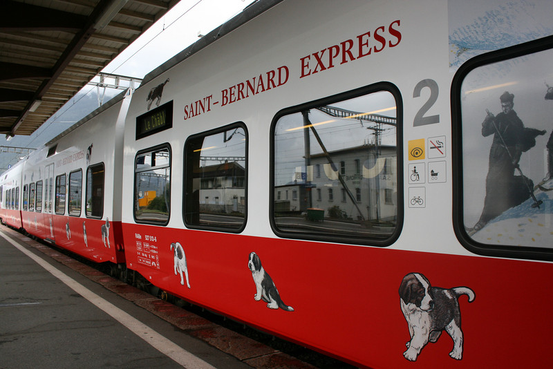 Saint Bernard Express heading towards Italy