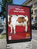 They accidentally featured an Austrian cow in the 100% pure Swiss beef ad