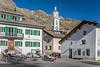 The village church at Sils Maria, Engadin Valley, Switzerland, Europe.