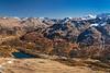 The Piz Nair mountain range above St. Moritz, Switzerland, Europe.