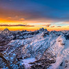 Sunrise over the Dolomites