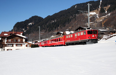 RhB, 703 at Klosters Dorf on 16th February 2008 (2)