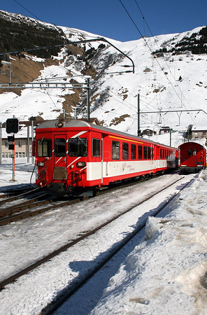MGB, ABt 4182 at Andermatt on 15th February 2008