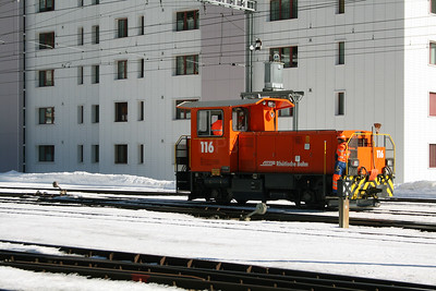 RhB, 116 at Davos Platz on 16th February 2008