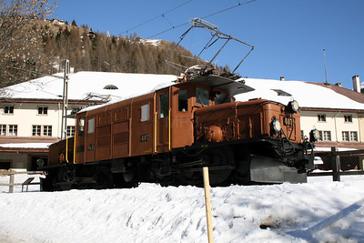 RhB, 407 at Bergun Bravuogn on 16th February 2008 (2)