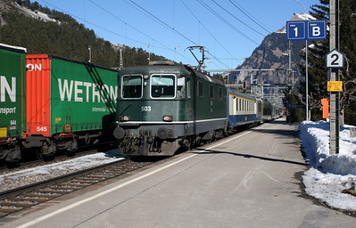 BLS, 420 503 at Kandersteg on 14th February 2008