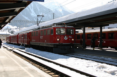 RhB, 706 at Klosters on 16th February 2008