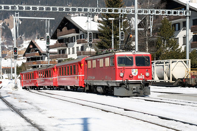 RhB, 602 at Klosters on 16th February 2008