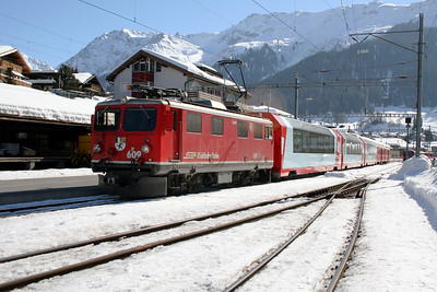 RhB, 609 at Klosters on 16th February 2008 (3)