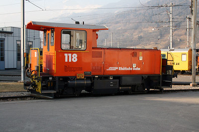 RhB, 118 at Landquart on 16th February 2008