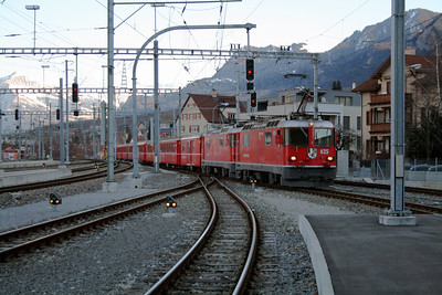 RhB, 625 at Chur on 19th February 2008 (2)
