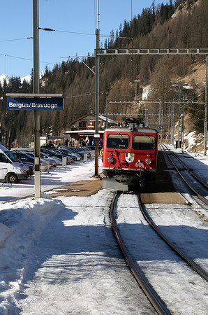 RhB, 601 at Bergun Bravuogn on 16th February 2008 (2)