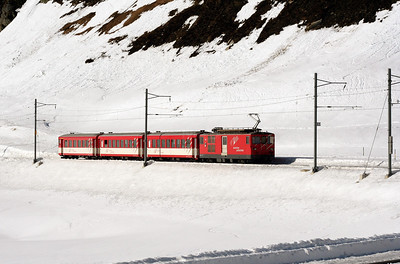 MGB, 91 at Oberalpass on 15th February 2008 (2)