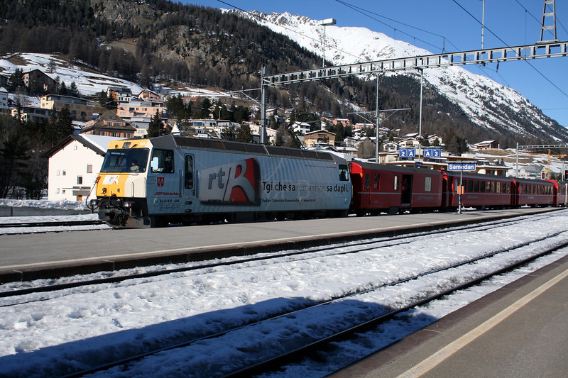 RhB, 644 at Samedan on 18th February 2008 1443