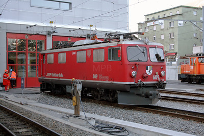 RhB, 609 at Chur on 19th February 2008
