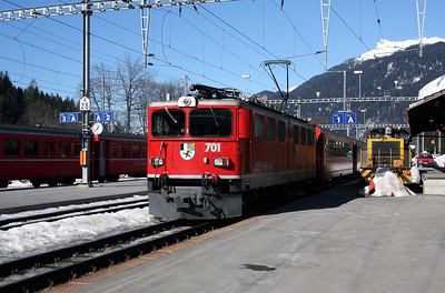 RhB, 701 at Klosters on 16th February 2008 1238