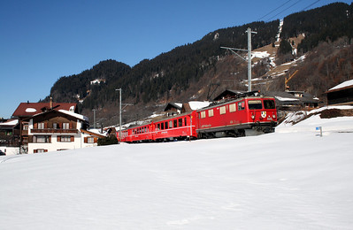 RhB, 606 at Klosters Dorf on 16th February 2008 (2)