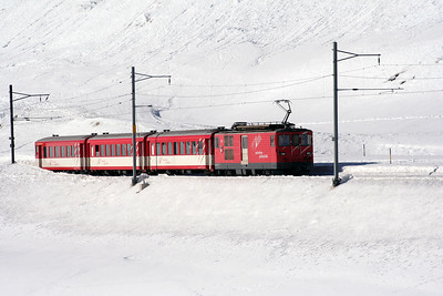 MGB, 91 at Oberalpass on 15th February 2008 (3)