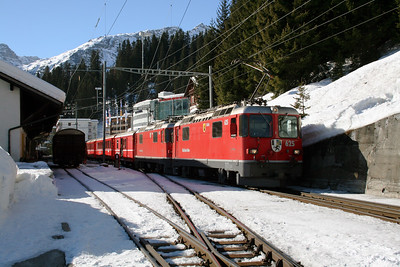 RhB, 625 & 616 at Arosa on 19th February 2008 (1)