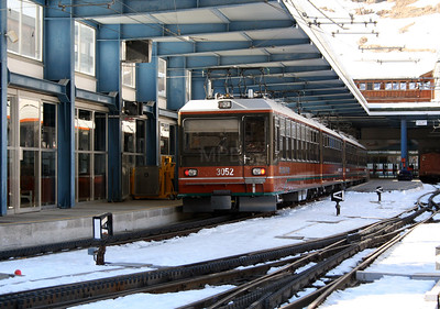 GGB, 3052 at Zermatt on 14th February 2008