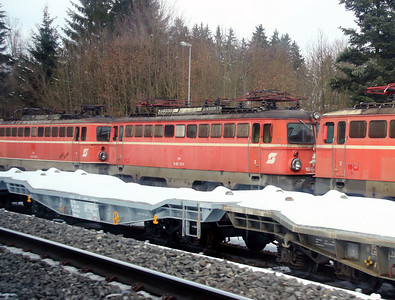 OBB, 1042 013 at Sursee (Switzerland) on 15th February 2013. Poor quality as taken through train window