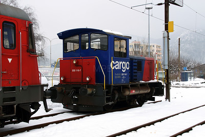 2) 232 110 (98 85 5232 110-7 CH-SBBC) at Oensingen on 15th February 2013