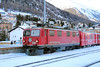 1) RhB, 605 at Samedan on 18th February 2013