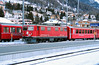 2) RhB, 603 at Samedan on 18th February 2013