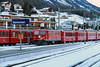 1) RhB, 603 at Samedan on 18th February 2013