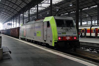 BLS, 486 510 (91 85 4486 510-1 CH-BLSC) at Luzern on 15th February 2013