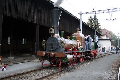 steam, LIMMAT at Erstfeld Depot on 8th September 2007