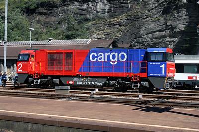 840 003 at Biasca on 8th September 2007