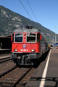 620 086 at Biasca on 8th September 2007 (1)
