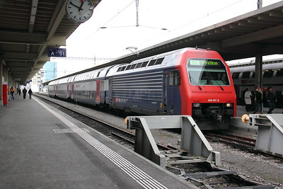 450 107 at Zurich HB on 26th January 2011