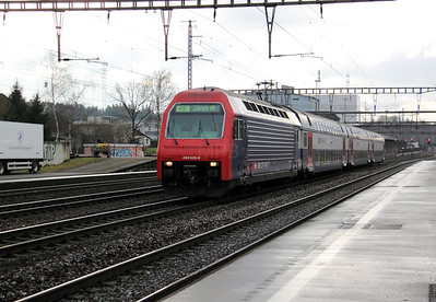 450 055 at Rupperswil on 19th January 2011