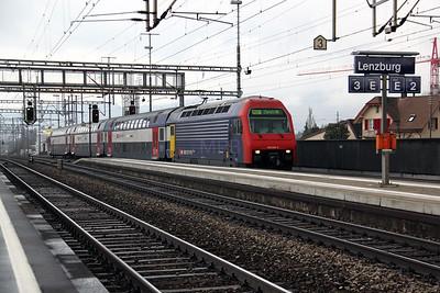 450 034 at Lenzburg on 19th January 2011
