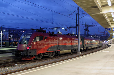 OBB, 1116 221 at Zurich HB on 18th January 2011