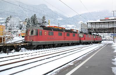 11601 at Arth Goldau on 21st January 2011