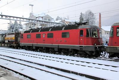 1) 11621 at Arth Goldau on 21st January 2011