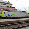 1) BLS, 485 009 (91 85 4485 009-5 CH-BLSC) at Spiez on 21st January 2014