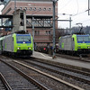 2) BLS, 485 007 & 485 009 at Spiez on 21st January 2014