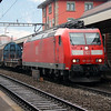 DB, 185 125 (91 80 6185 125-2 D-DB) at Arth Goldau on 17th January 2014