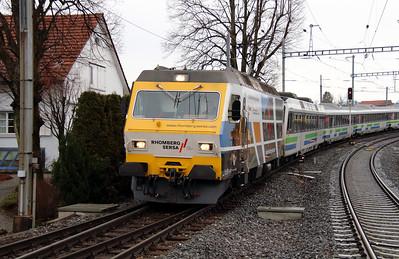 2) SOB, 456 093 at Samstagern on 17th January 2014 working VAE2417
