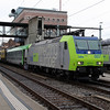 BLS, 485 007 (91 85 4485 007-9 CH-BLSC) at Spiez on 21st January 2014
