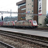 1) Crossrail, 185 602 (91 80 6185 602-0 D-XRAIL) at Arth Goldau on 17th January 2014